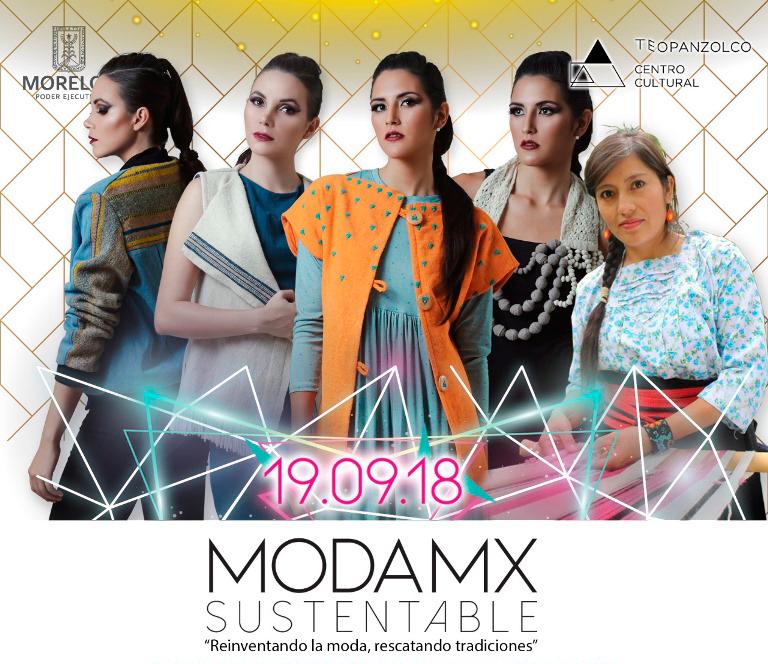 Moda sustentable, presentación de prendas en el Centro Cultural Teopanzolco