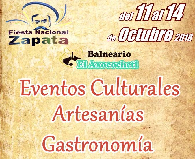 """""""Fiesta Nacional Zapata"""" en el Balneario Axocochetl"""