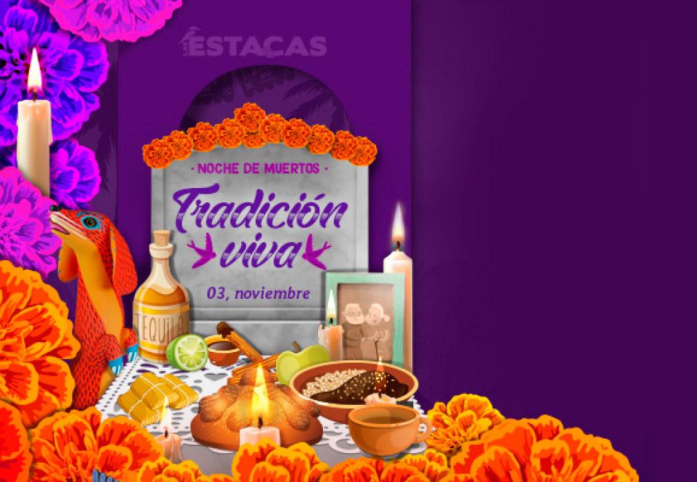 Noche de muertos en Las Estacas, rumbo al Mictlán