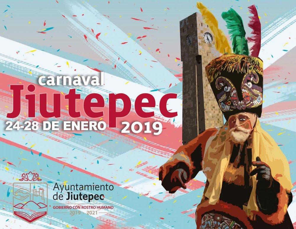 Programa de actividades del Carnaval Jiutepec 2019
