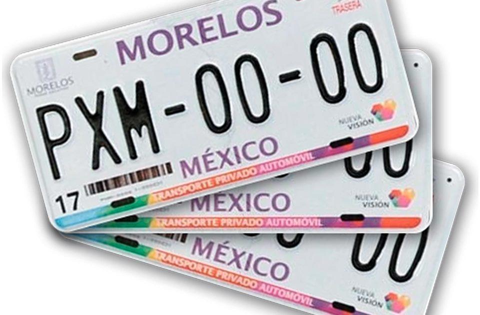 Reemplacamiento en el estado de Morelos