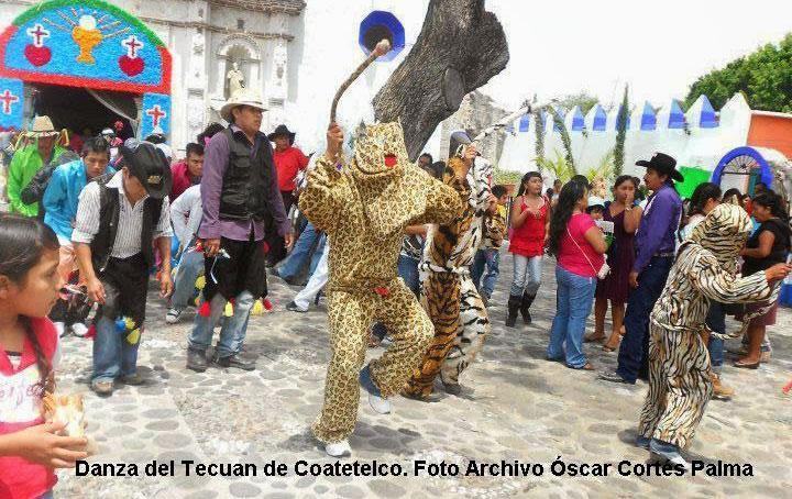 Danza del tecuan en Coatetelco Morelos